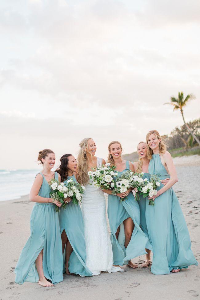Wedding - Seafoam White And Green Jupiter Beach Wedding