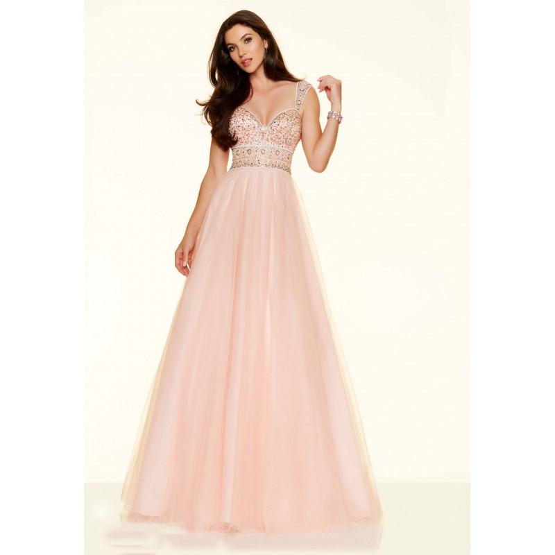 Mariage - Elaborate Ball Gown Sweetheart Satin Pearl Pink Prom Dress Keyhole - dressosity.com