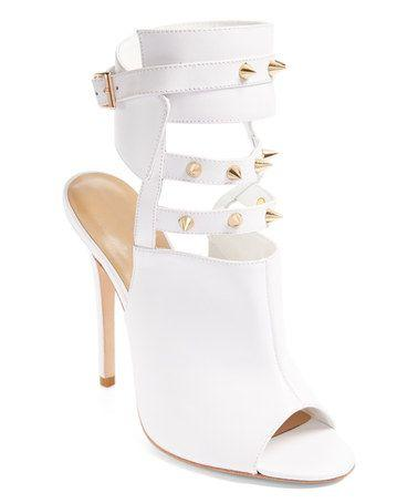 Wedding - Alejandra G White Leather Fiona Sandal