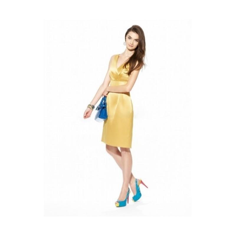 زفاف - Sheath/Column V-neck Bowknot Sleeveless Knee-length Satin Bridesmaid Dresses In Canada Bridesmaid Dress Prices - dressosity.com