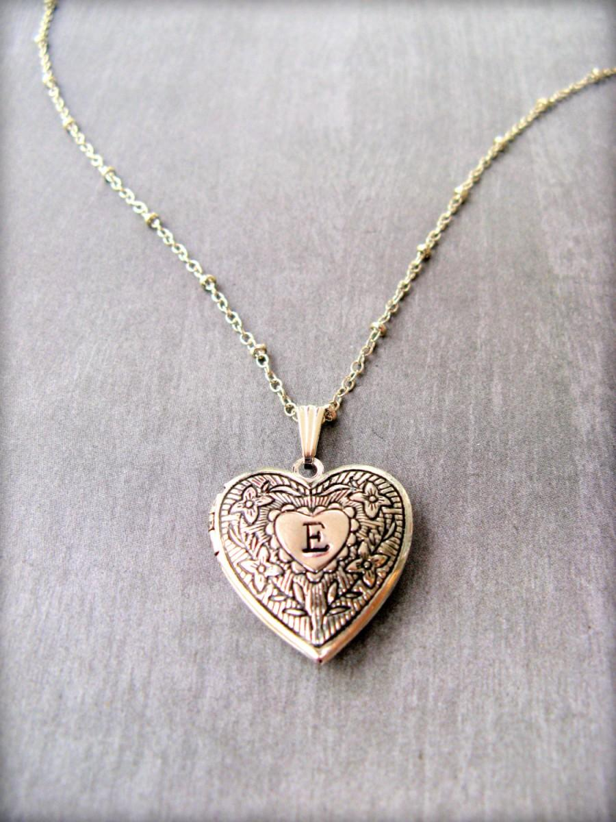 com silver locket amazon engraved heart jewelry lockets dp necklace sterling necklaces flowers