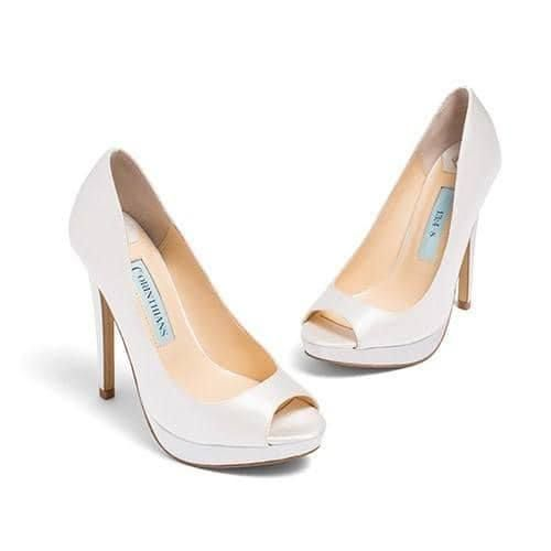 "Wedding - Wedding Shoes - ""Aria"" Sandals In Ivory Satin"
