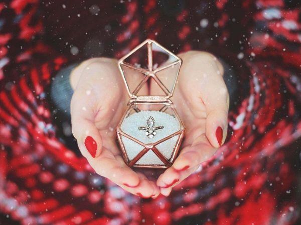 زفاف - Geometric Engagement Ring Box