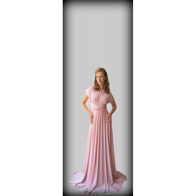 Pastel Pink Infinity Dress Floor Length Wrap Dress Hand Made