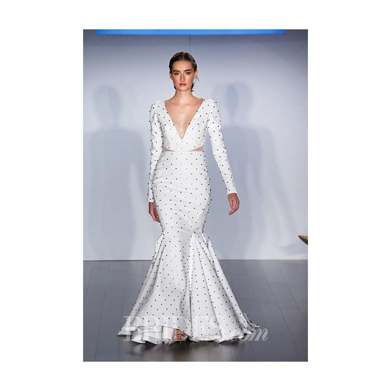 Mariage - Hayley Paige - Fall 2015 - Long Sleeve Polka Dot Mermaid Wedding Dress - Stunning Cheap Wedding Dresses