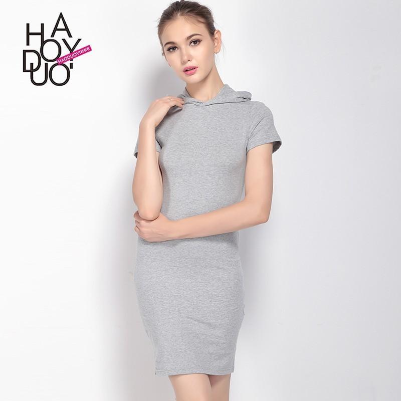 Mariage - Summer 2017 temperament slim high-waist bag hip new street sport casual hooded dresses - Bonny YZOZO Boutique Store