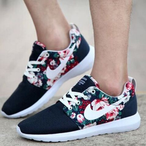 Wedding - Breathable Men Shoes Print Flowers
