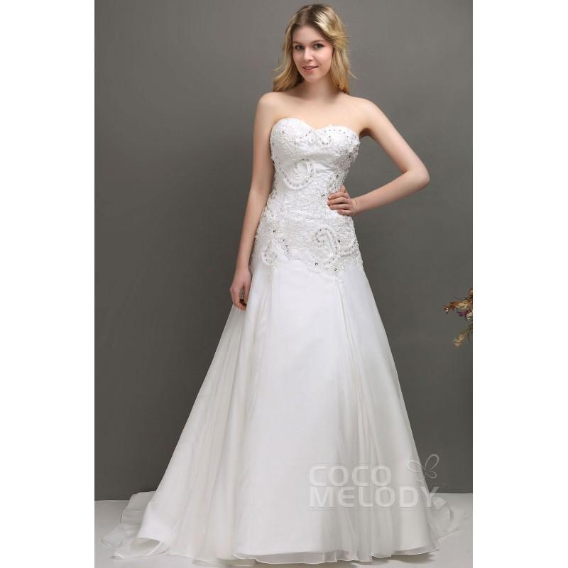 Wedding - Dreamy A-Line Sweetheart Court Train Organza Wedding Dress CWLT1309F - Top Designer Wedding Online-Shop