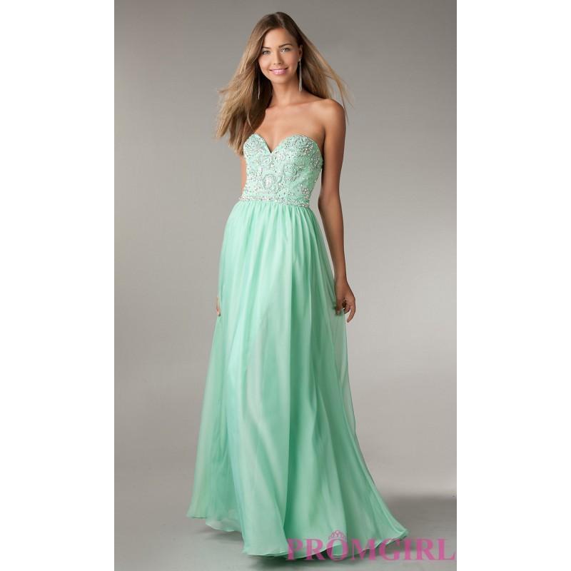 Boda - Full Length Open Back Strapless Beaded Gown by Flirt - Brand Prom Dresses
