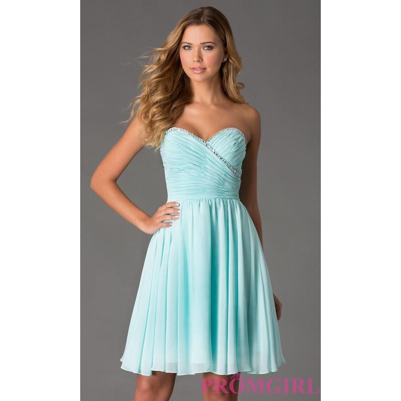 Mori Lee Short Strapless Dress - Brand Prom Dresses #2737660 - Weddbook
