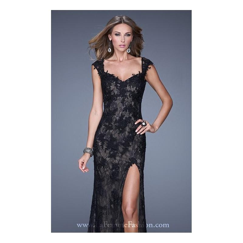 Mariage - Sheer Lace Gown by La Femme 20914 - Bonny Evening Dresses Online