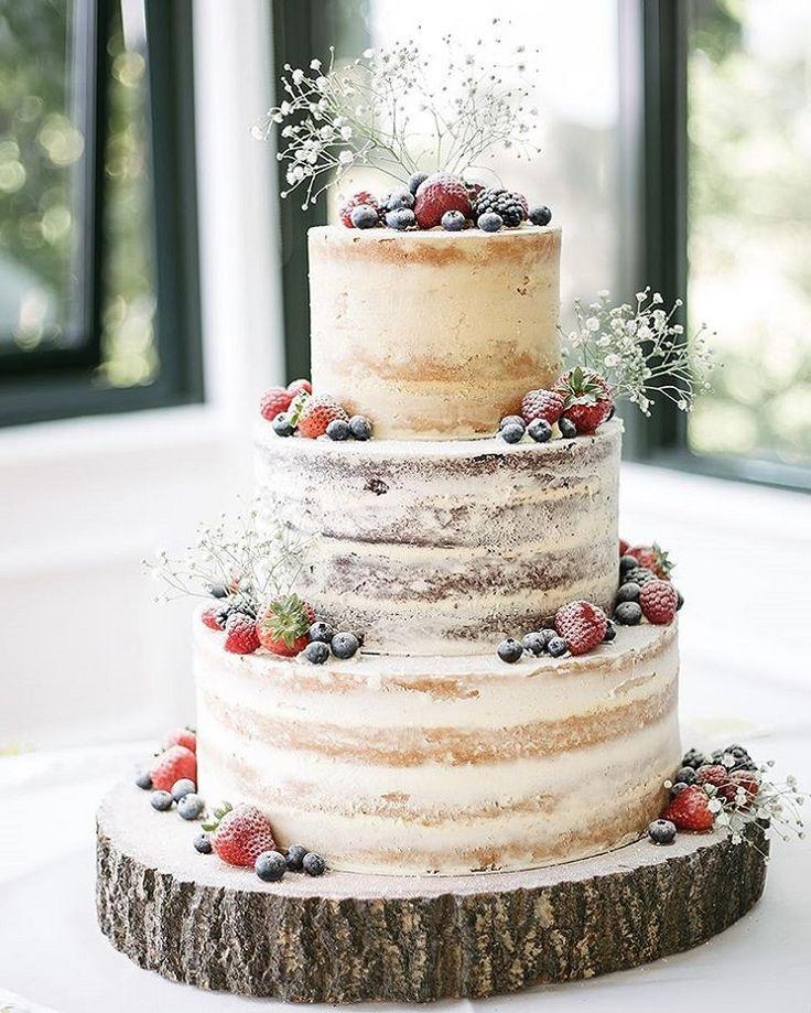 Wedding - Half Naked Berry Cake