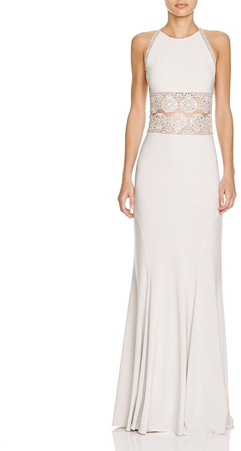 Hochzeit - Bloomingdale's - Mignon Boho Illusion Lace Detail Gown
