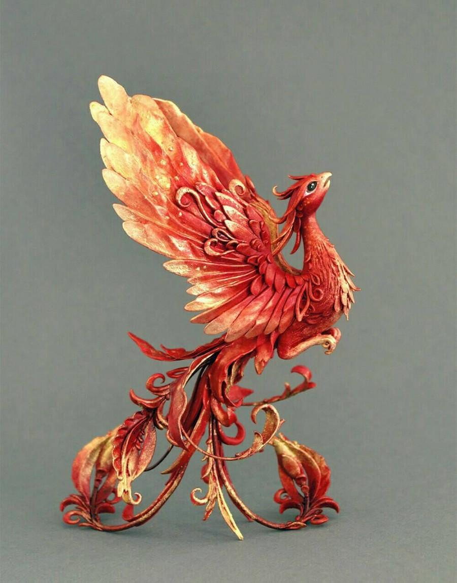 Phoenix Sculpture Firebird Sculpture Phoenix Figurine Phoenix ...