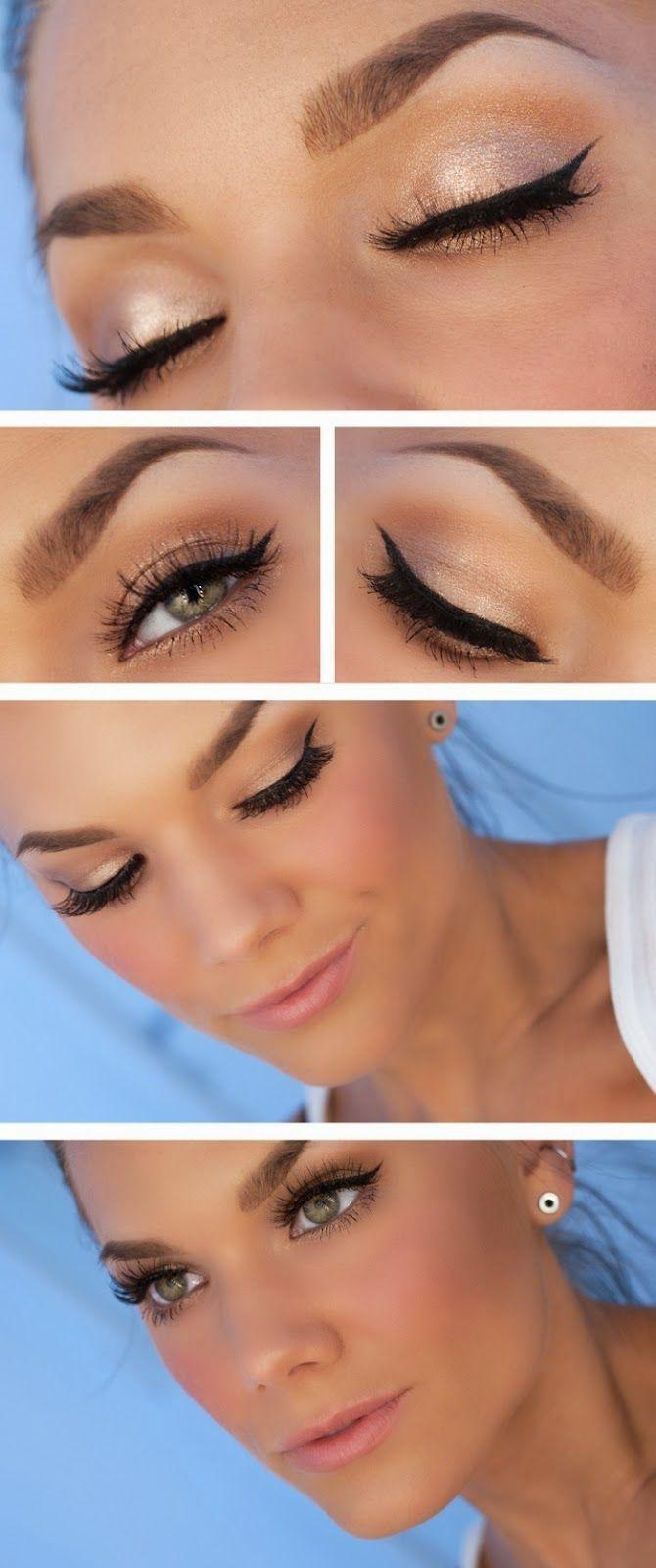 Natural dramatic eye makeup