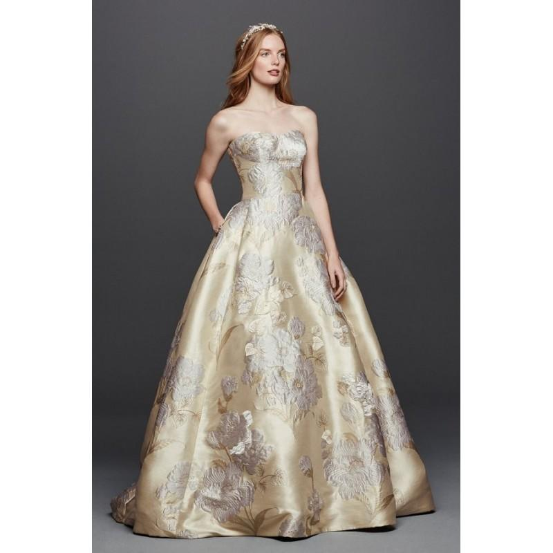 Mariage - Style CWG734 by Oleg Cassini at David's Bridal - Sweetheart Floor length Ballgown Chapel Length Dress - 2017 Unique Wedding Shop