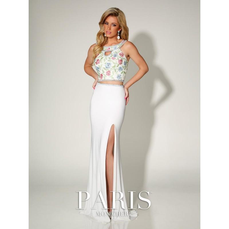 08dcfd74c0b11 Ivory/Multi Paris by Mon Cheri 116745 Paris Prom by Mon Cheri - Top Design  Dress Online Shop