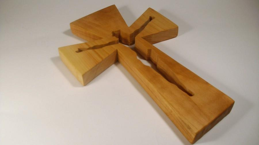 Wooden Cross Scroll Saw Wall Religious Gift Handmade Decor