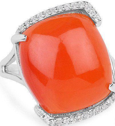 Свадьба - A Natural 7.48CT Sunset Orange Carnelian Cabochon Ring