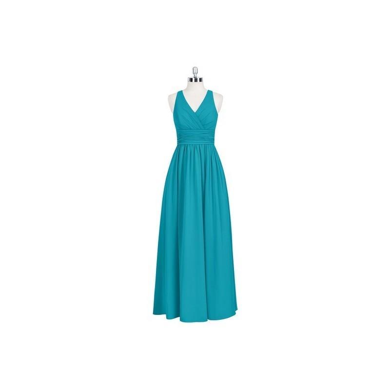 زفاف - Jade Azazie Natasha - Keyhole Chiffon Floor Length V Neck - Charming Bridesmaids Store
