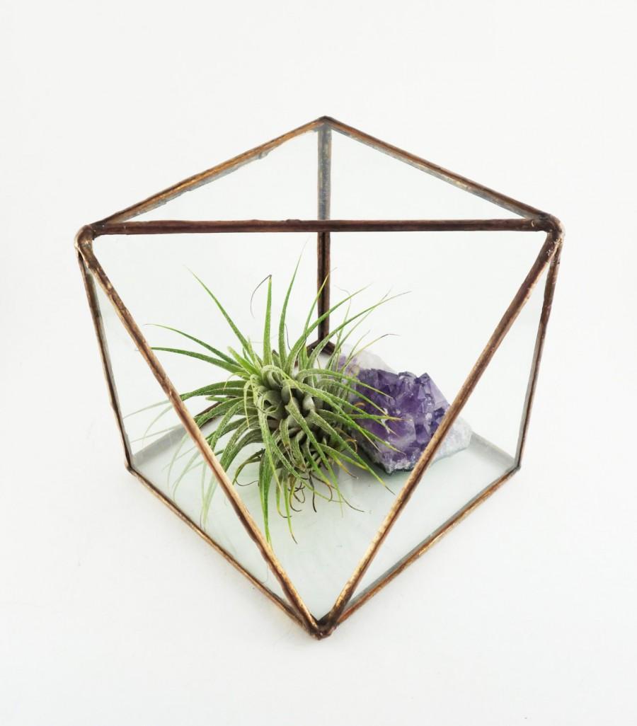 Sliced Cube Stained Glass Terrarium 2738502 Weddbook