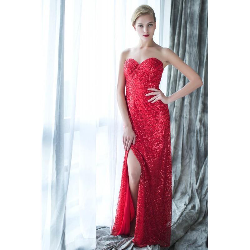 Wedding - Marilyn by June Peony - Sequin Floor Sweetheart  Strapless - Bridesmaid Dress Online Shop