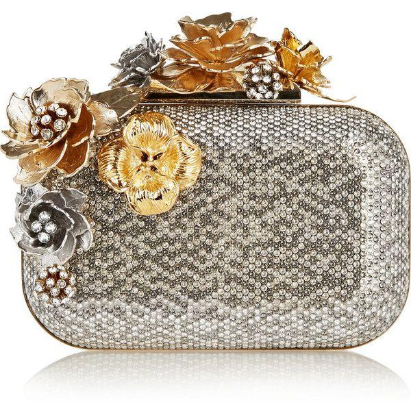 Düğün - Jimmy Choo Cloud Swarovski Crystal-embellished Metal Clutch
