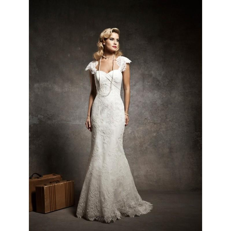 new styles 66c60 86e37 Cap Sleeves Sweetheart Mermaid Hochzeit Spitzenkleid 2013 ...