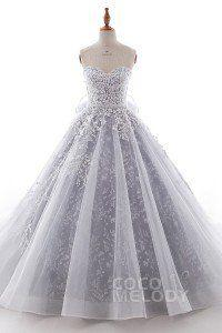 Boda - A-Line Chapel Train Tulle Wedding Dress LD5054