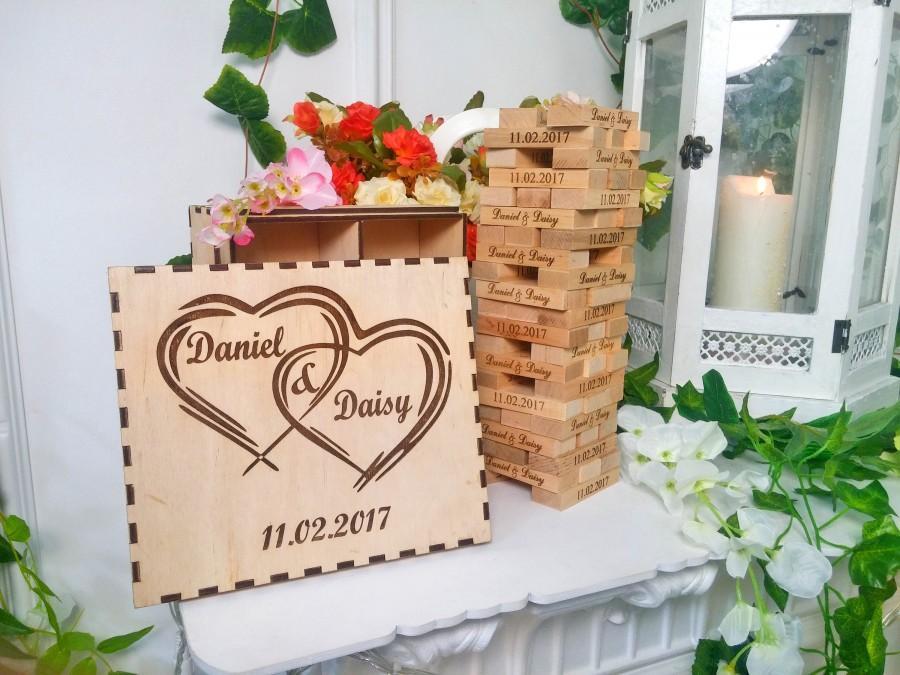 Wedding Guest Book Alternative Gift Personalized Jenga