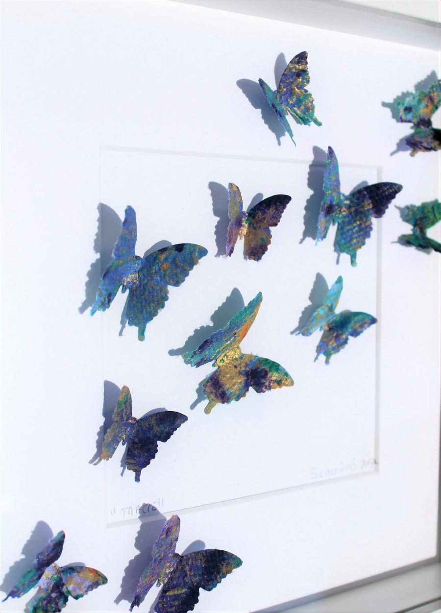 Wedding - Butterfly painting. Each of Andrea Scacciotti's traces is a unique piece, resulting from a brillant concept and painstaking craft.