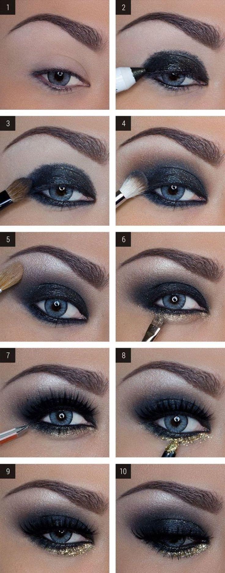 Как красиво накрасить узкие глаза тенями пошаговая инструкция фото