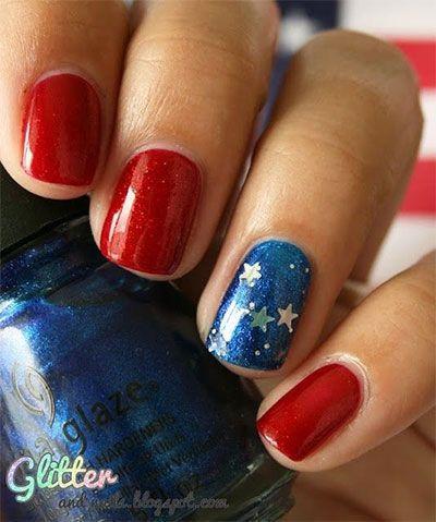 زفاف - Fourth of July Nails