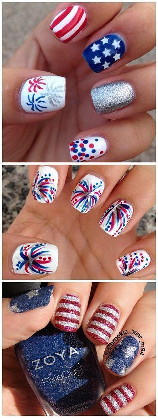 زفاف - Fourth of July Nail Art