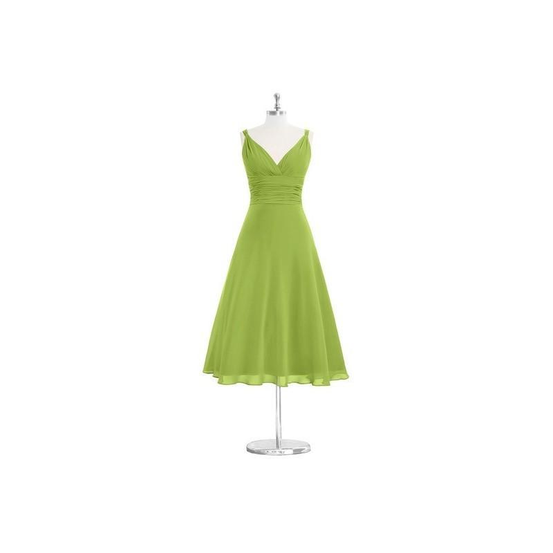 Wedding - Clover Azazie Jayla - Chiffon V Neck Tea Length V Back Dress - Cheap Gorgeous Bridesmaids Store