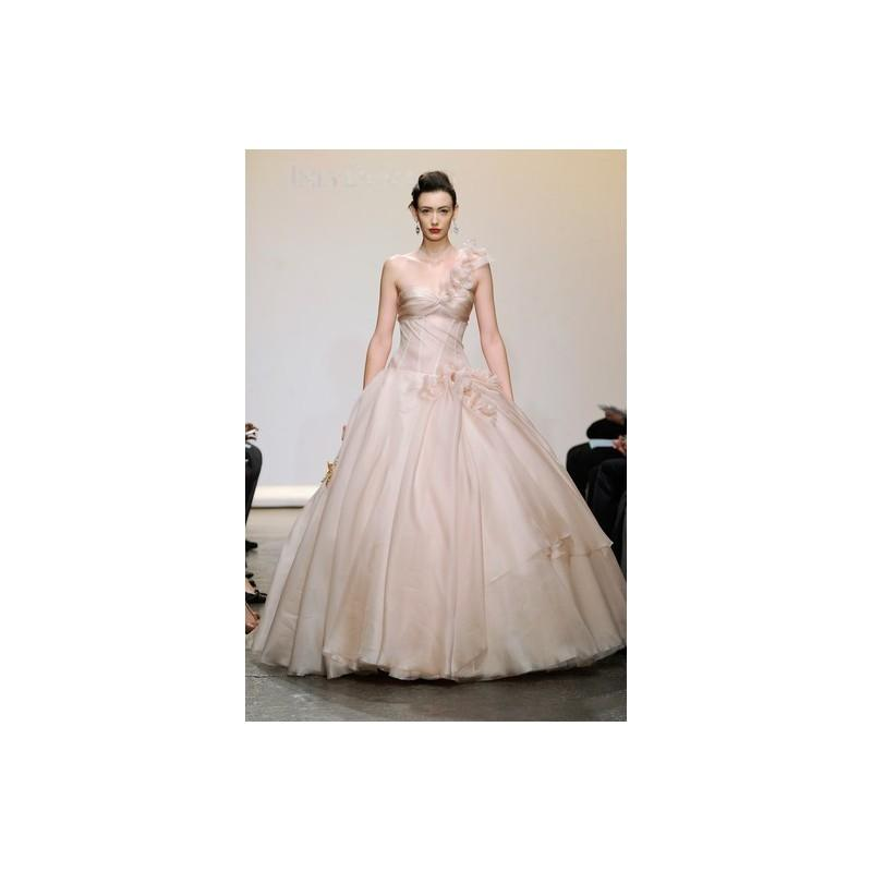 Wedding - Ines di Santo FW13 Dress 30 - Ines di Santo Pink Ball Gown Full Length Fall 2013 One Shoulder - Nonmiss One Wedding Store