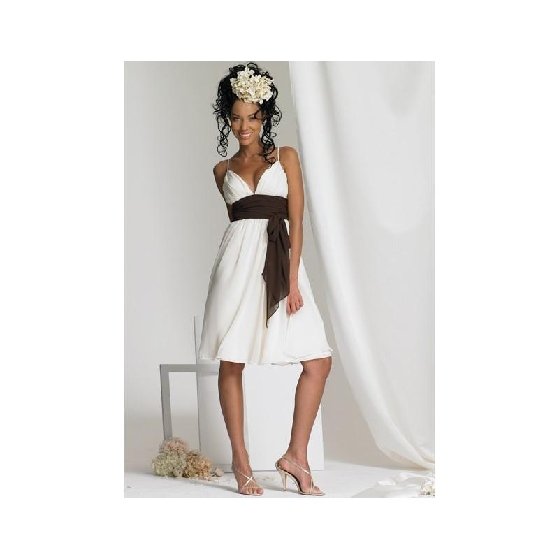 Wedding - Bari Jay 366 Stylish Knee Length Dress - 2017 Spring Trends Dresses