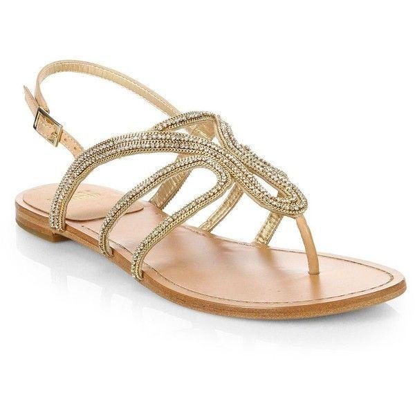 Hochzeit - Stuart Weitzman Crystal-Embellished Strappy Sandals