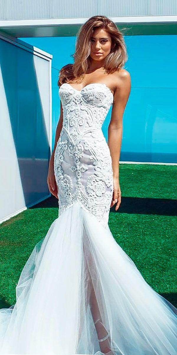 Wedding - 30 Strapless Wedding Dresses Which You Need To See