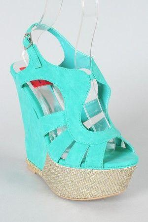 Wedding - Fahrenheit Selita-07 Strappy Open Toe Wedge