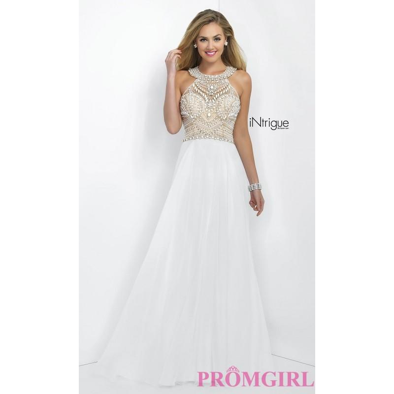 White Prom Dress With Beaded Top Intrigue By Blush - Brand Prom ...