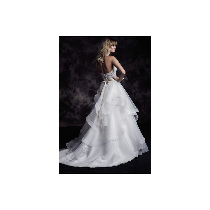 Wedding - Paloma Blanca Wedding Dress Fall 2015 4610 - Full Length Sweetheart Fall 2015 A-Line White Paloma Blanca - Nonmiss One Wedding Store
