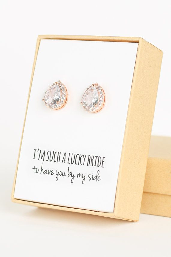 Bridesmaid Teardrop Earring Gift 2739924 Weddbook