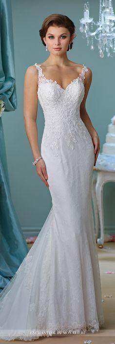 Mariage - Fit And Flare Lace Wedding Dress- 216157- Enchanting By Mon Cheri