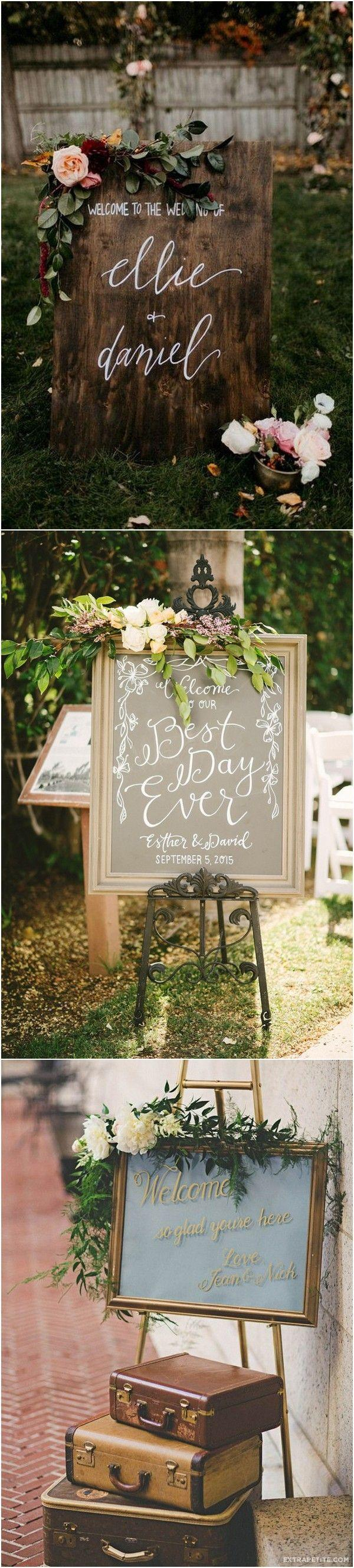 Wedding - 20 Brilliant Wedding Welcome Sign Ideas For Ceremony And Reception - Page 3 Of 3