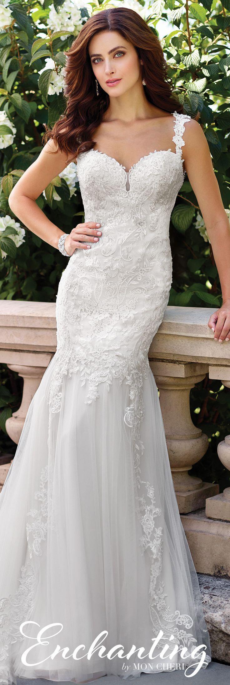 Свадьба - Chiffon Fit And Flare Wedding Dress- 117194- Enchanting By Mon Cheri