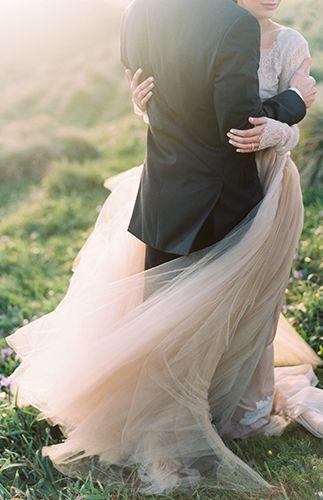 Wedding - Ethereal Blush Cliffside Elopement