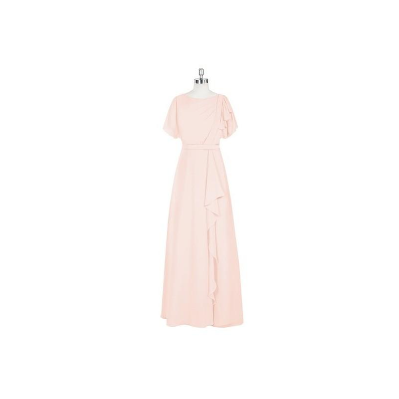 Wedding - Pearl_pink Azazie Aaliyah - Scoop Back Zip Floor Length Chiffon Dress - Charming Bridesmaids Store