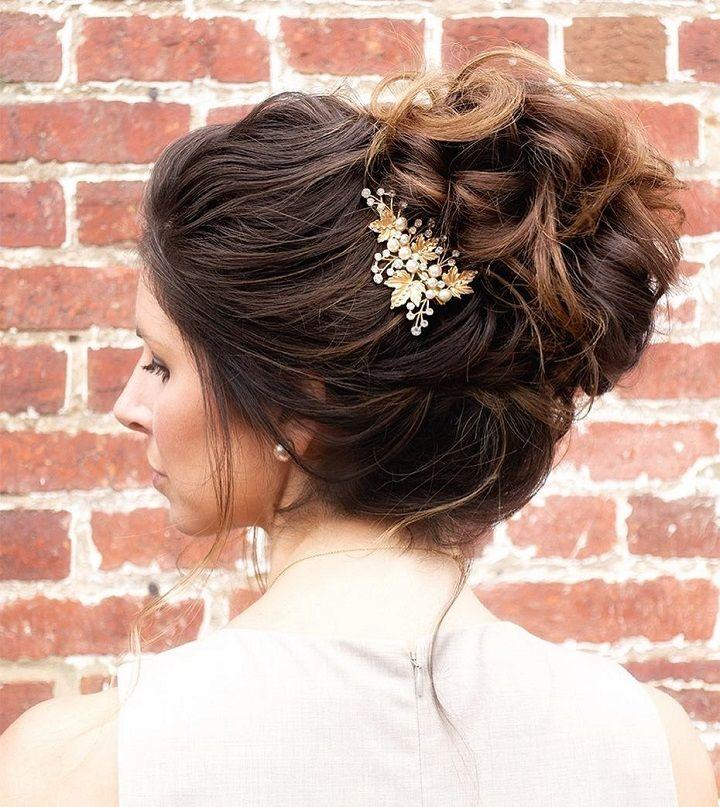 Свадьба - This Gorgeous And Unique Messy Updo Wedding Hairstyle Will Inspire You
