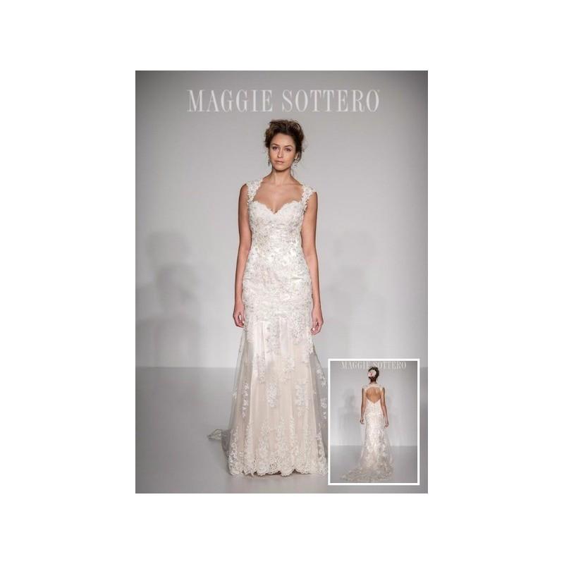 Wedding - Vestido de novia de Maggie Sottero Modelo Collins - 2016 Evasé Tirantes Vestido - Tienda nupcial con estilo del cordón